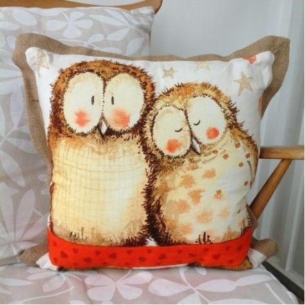 Owls Cushion By Alex Clark